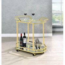 Traditional Brass Serving Cart