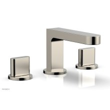 ROND Widespread Faucet - Blade Handles Low Spout 183-04 - Polished Nickel