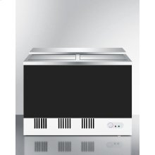 Commercial Manual Defrost Back Bar Chest Cooler With Chalkboard Exterior