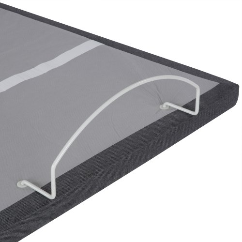 Falcon 2.0+ Low-Profile Adjustable Bed Base with Under-Bed Lighting, Charcoal Gray, Twin