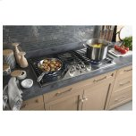 "GE Profile 36"" Built-In Tri-Ring Gas Cooktop with 5 Burners and Optional Extra-Large Integrated Griddle"