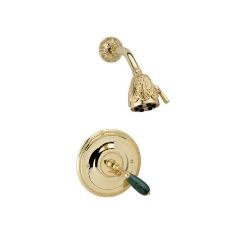 VALENCIA Pressure Balance Shower Set PB3338F - Satin Nickel with Satin Gold