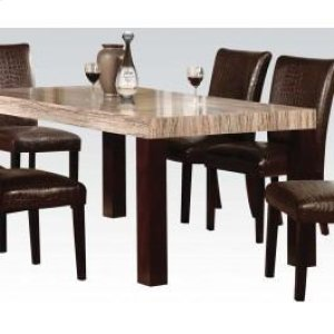 Fraser Dining Table W Faux Mbl Hidden