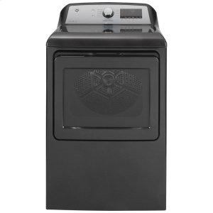 GE  ®7.4 cu. ft. Capacity Smart aluminized alloy drum Electric Dryer with Sanitize Cycle and Sensor Dry