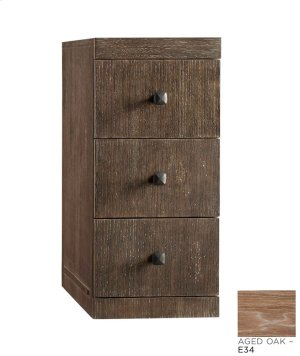 """Sophie 12"""" Drawer Bridge with Three Drawers in Aged Oak Product Image"""