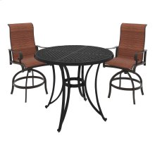Apple Town - Burnt Orange 3 Piece Patio Set