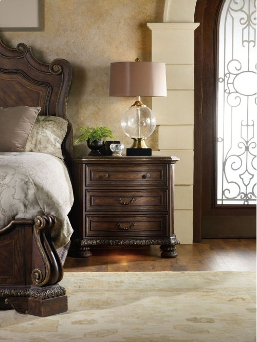 Bedroom Adagio Three Drawer Nightstand