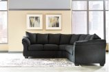 Darcy - Black 2 Piece Sectional Product Image