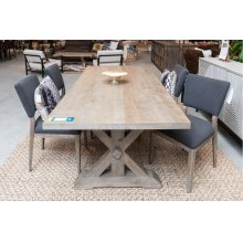 "Mills Dining Table 84"" Vintage Taupe"