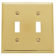 Polished Brass Beveled Edge Double Toggle