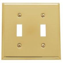 Polished Brass Beveled Edge Double Toggle