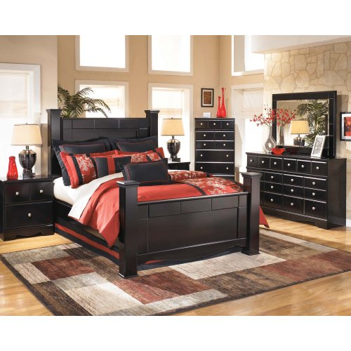 Ashley King Poster Bed w/ Storage