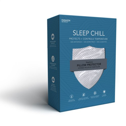 Sleep Chill Pillow Protector with Soft and Moisture Resistant CoolMax Fabric, Standard / Queen