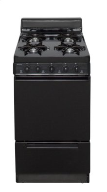 20 in. Freestanding Battery-Generated Spark Ignition Gas Range in Black