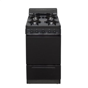 Premier20 in. Freestanding Battery-Generated Spark Ignition Gas Range in Black