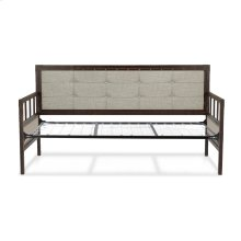Gotham Metal Daybed with Latte Finished Button-Tufted Upholstery and Link Spring, Brushed Copper, Twin