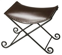 """This sleek seat redefines """"stool for discerning consumers intent on having not only beautiful for intriguing home environments. Crafted from iron and leather, the puppy tail feet of the base add fanciful flourish on the floor. The seat securely hooks onto"""