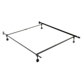 Sentry 78/60R Adjustable Bed Frame with Headboard Brackets and (4) 2-Inch Rug Roller Legs, Twin / Full / Queen