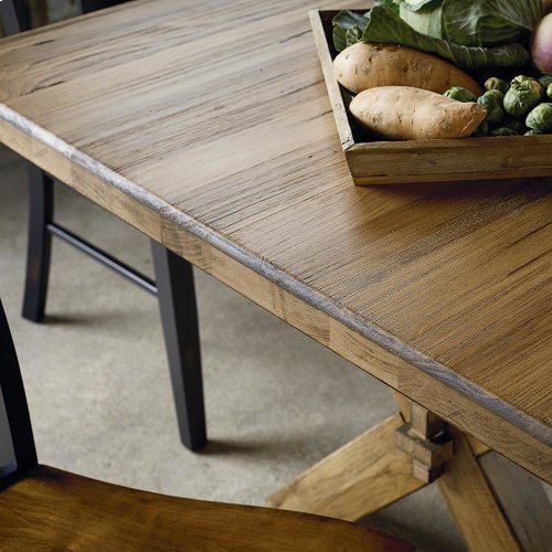 "Bench*Made Maple 72"" Rectangular TableLive Edge"