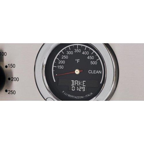 30 inch Dual Fuel Range, 4 Brass Burner, Electric Self-Clean Oven Nero