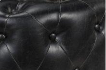 Reed Round Ottoman Black