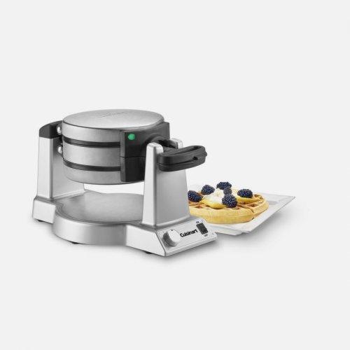 Double Belgian Waffle Maker - Round