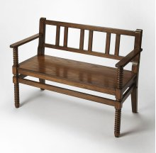 A prefect additon to your transitional entryway this verstile bench features a slat back design and a Praline finish. An awesome spot to ready your shoes, gloves, and other out-the-door essentials, this classic bench is handsomely styled with practicalit