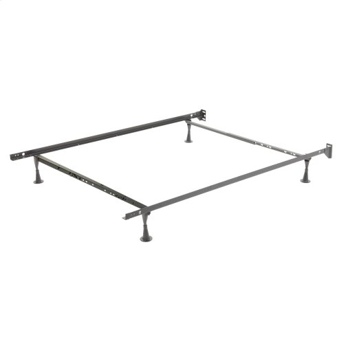Restmore Adjustable PL45G Posi-lock Bed Frame with Fixed Headboard Brackets and (4) Leg Glide Legs, Powder Coat Finish, Twin - Full
