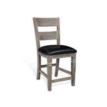 """24""""H Pinehurst Ladderback Barstool, Cushion Seat"""