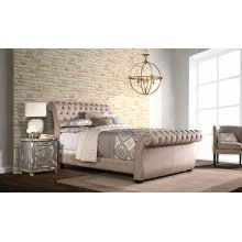 Bombay King Bed Set - Rails Included