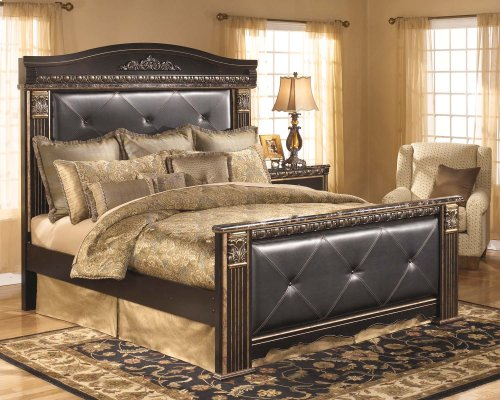 Coal Creek - Dark Brown 4 Piece Bed Set (King)