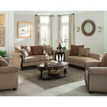 Beasley Traditional Light Brown Three-piece Living Room Set