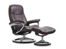Stressless Consul Medium Signature Base Chair and Ottoman