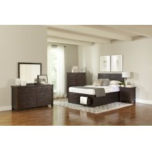 Jackson Lodge 4 Piece Queen Bedroom Set: Bed, Dresser, Mirror, Nightstand