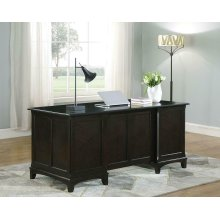 Garson Transitional Cappuccino Desk
