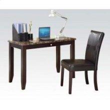 2pc Pk Desk , Chair W/faux M.