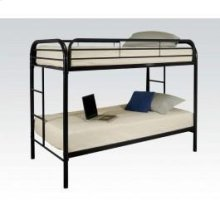 Black Twin/twin Bunk Bed
