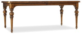 """Dining Room Tynecastle Rectangle Leg Dining Table with Two 18"""" Leaves"""