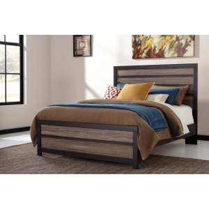 Ashley Furniture Harlinton - Warm Gray/charcoal 3 Piece Bed Set (Queen)