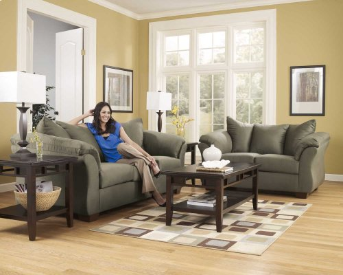 Ashley Sofa & Love Seat Package - Darcy - Sage