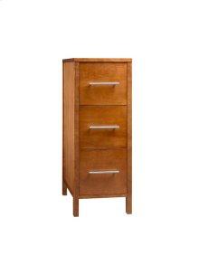 "Contemporary 12"" Freestanding Bathroom Storage Drawer Bank in Cinnamon"