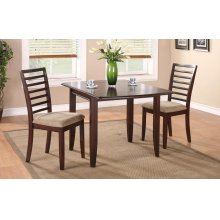 "3PC SET (50"" Leg Table with 2 Side Chairs)"