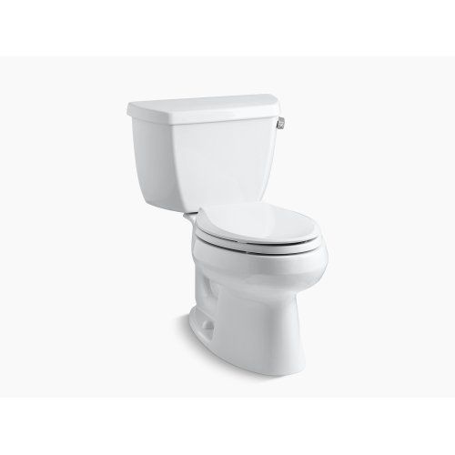 Biscuit Two-piece Elongated 1.28 Gpf Toilet With Class Five Flush Technology and Right-hand Trip Lever, Seat Not Included