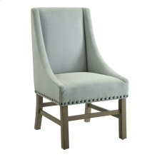 Light Grey and Rustic Smoke Upholstered Dining Chair