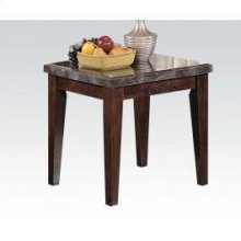 Black Marble Top End Table