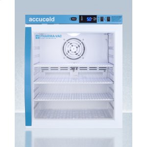 SummitPerformance Series Pharma-vac 1 CU.FT. Compact Glass Door All-refrigerator for Vaccine Storage