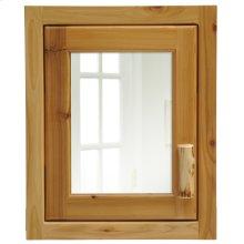 Cedar Inset Medicine Cabinet - Hinged Left
