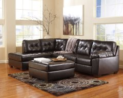 Alliston Chocolate Sectional (Left Side Chaise) Product Image