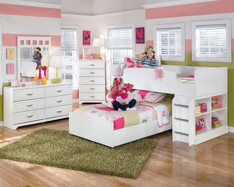 Beau Lulu   White 2 Piece Bedroom Set