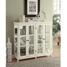 Transitional White Accent Cabinet